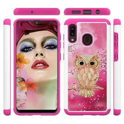 Seashell Cat Shock Absorbing Hybrid Defender Rugged Phone Case Cover for Samsung Galaxy A20