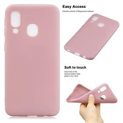 Soft Matte Silicone Phone Cover for Samsung Galaxy A20 - Lotus Color