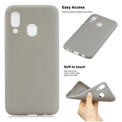 Soft Matte Silicone Phone Cover for Samsung Galaxy A20 - Gray