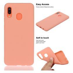 Soft Matte Silicone Phone Cover for Samsung Galaxy A20 - Coral Orange
