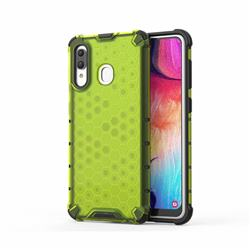Honeycomb TPU + PC Hybrid Armor Shockproof Case Cover for Samsung Galaxy A20 - Green