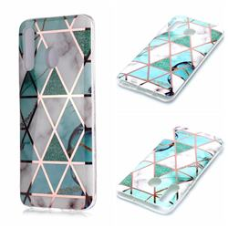 Green White Galvanized Rose Gold Marble Phone Back Cover for Samsung Galaxy A20