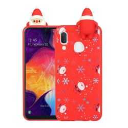Snowflakes Gloves Christmas Xmax Soft 3D Doll Silicone Case for Samsung Galaxy A20