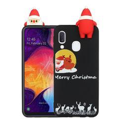 Santa Elk on Moon Christmas Xmax Soft 3D Doll Silicone Case for Samsung Galaxy A20