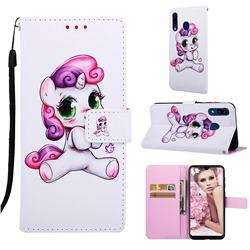 Playful Pony Matte Leather Wallet Phone Case for Samsung Galaxy A20