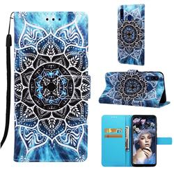 Underwater Mandala Matte Leather Wallet Phone Case for Samsung Galaxy A20