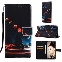 Wandering Earth Matte Leather Wallet Phone Case for Samsung Galaxy A20