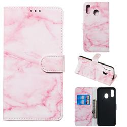 Pink Marble PU Leather Wallet Case for Samsung Galaxy A20