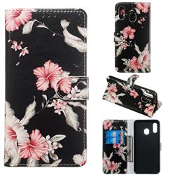 Azalea Flower PU Leather Wallet Case for Samsung Galaxy A20