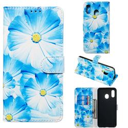 Orchid Flower PU Leather Wallet Case for Samsung Galaxy A20
