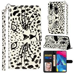 Leopard Panther 3D Leather Phone Holster Wallet Case for Samsung Galaxy A20