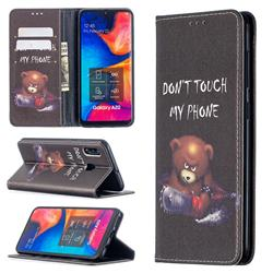 Chainsaw Bear Slim Magnetic Attraction Wallet Flip Cover for Samsung Galaxy A20