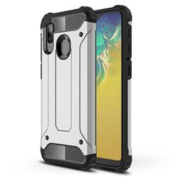 King Kong Armor Premium Shockproof Dual Layer Rugged Hard Cover for Samsung Galaxy A20e - White