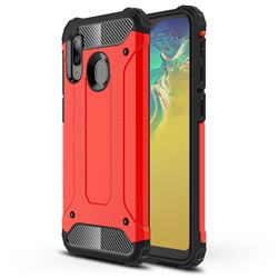 King Kong Armor Premium Shockproof Dual Layer Rugged Hard Cover for Samsung Galaxy A20e - Big Red