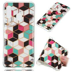 Three-dimensional Square Soft TPU Marble Pattern Phone Case for Samsung Galaxy A20e