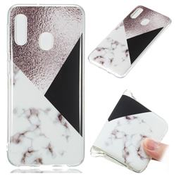 Black white Grey Soft TPU Marble Pattern Phone Case for Samsung Galaxy A20e