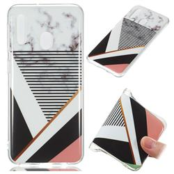 Pinstripe Soft TPU Marble Pattern Phone Case for Samsung Galaxy A20e