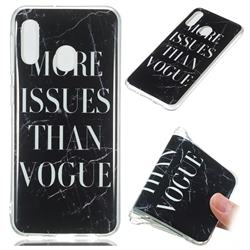 Stylish Black Soft TPU Marble Pattern Phone Case for Samsung Galaxy A20e