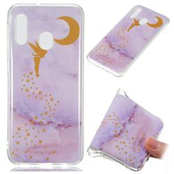 Elf Purple Soft TPU Marble Pattern Phone Case for Samsung Galaxy A20e
