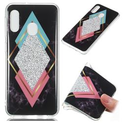 Black Diamond Soft TPU Marble Pattern Phone Case for Samsung Galaxy A20e