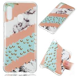 Diagonal Grass Soft TPU Marble Pattern Phone Case for Samsung Galaxy A20e