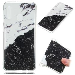 Black and White Soft TPU Marble Pattern Phone Case for Samsung Galaxy A20e
