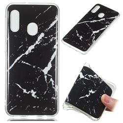 Black Rough white Soft TPU Marble Pattern Phone Case for Samsung Galaxy A20e