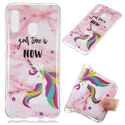 Unicorn Soft TPU Marble Pattern Phone Case for Samsung Galaxy A20e