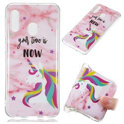 Unicorn Soft TPU Marble Pattern Phone Case for Samsung Galaxy A20e