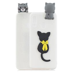 Little Black Cat Soft 3D Climbing Doll Soft Case for Samsung Galaxy A20e