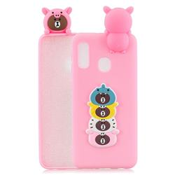 Expression Bear Soft 3D Climbing Doll Soft Case for Samsung Galaxy A20e