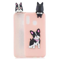 Cute Dog Soft 3D Climbing Doll Soft Case for Samsung Galaxy A20e