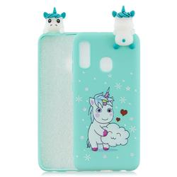 Heart Unicorn Soft 3D Climbing Doll Soft Case for Samsung Galaxy A20e