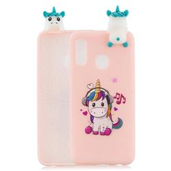 Music Unicorn Soft 3D Climbing Doll Soft Case for Samsung Galaxy A20e