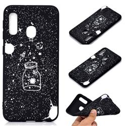 Travel The Universe Chalk Drawing Matte Black TPU Phone Cover for Samsung Galaxy A20e