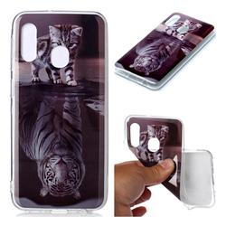 Cat and Tiger Soft TPU Cell Phone Back Cover for Samsung Galaxy A20e