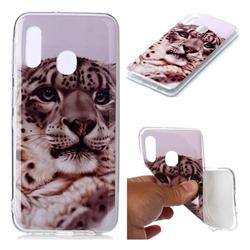 White Leopard Soft TPU Cell Phone Back Cover for Samsung Galaxy A20e