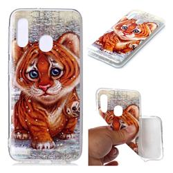 Cute Tiger Baby Soft TPU Cell Phone Back Cover for Samsung Galaxy A20e