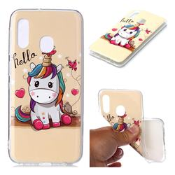 Hello Unicorn Soft TPU Cell Phone Back Cover for Samsung Galaxy A20e