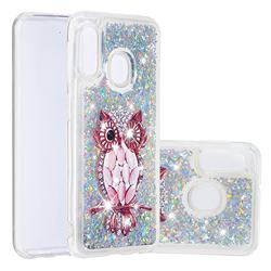 Seashell Owl Dynamic Liquid Glitter Quicksand Soft TPU Case for Samsung Galaxy A20e