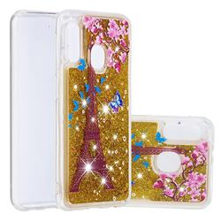 Golden Tower Dynamic Liquid Glitter Quicksand Soft TPU Case for Samsung Galaxy A20e