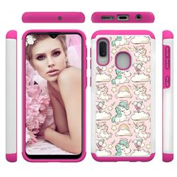 Pink Pony Shock Absorbing Hybrid Defender Rugged Phone Case Cover for Samsung Galaxy A20e