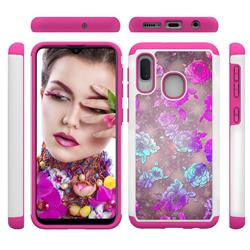 peony Flower Shock Absorbing Hybrid Defender Rugged Phone Case Cover for Samsung Galaxy A20e