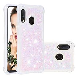 Dynamic Liquid Glitter Sand Quicksand TPU Case for Samsung Galaxy A20e - Silver Powder Star