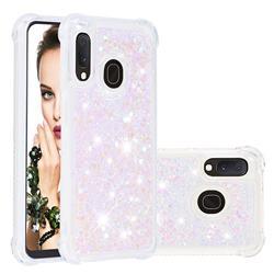 Dynamic Liquid Glitter Sand Quicksand Star TPU Case for Samsung Galaxy A20e - Pink
