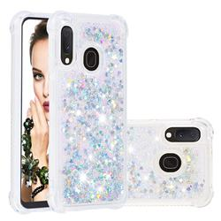 Dynamic Liquid Glitter Sand Quicksand Star TPU Case for Samsung Galaxy A20e - Silver