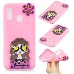Violet Girl Soft 3D Silicone Case for Samsung Galaxy A20e