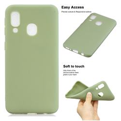 Soft Matte Silicone Phone Cover for Samsung Galaxy A20e - Bean Green