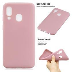 Soft Matte Silicone Phone Cover for Samsung Galaxy A20e - Lotus Color