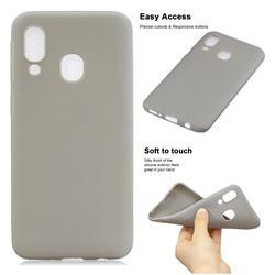 Soft Matte Silicone Phone Cover for Samsung Galaxy A20e - Gray